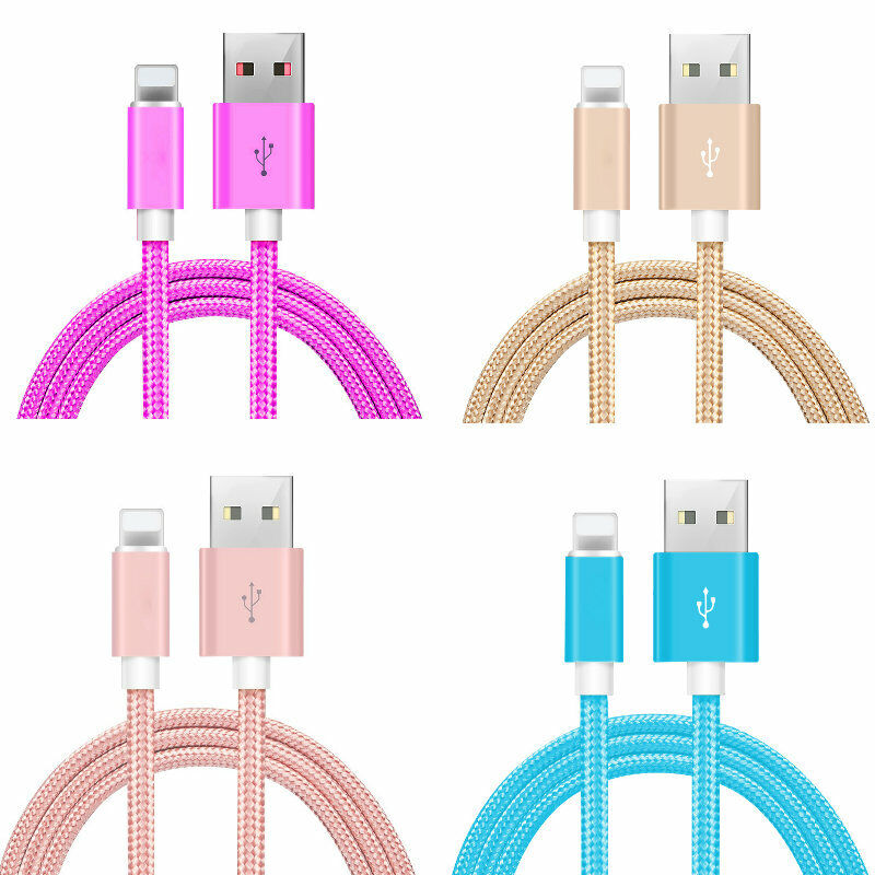 3-Pack 10FT USB Data Charger Cables Cords For Apple iPhone 6 7 8 X XS XR 12 Plus Cables & Adapters