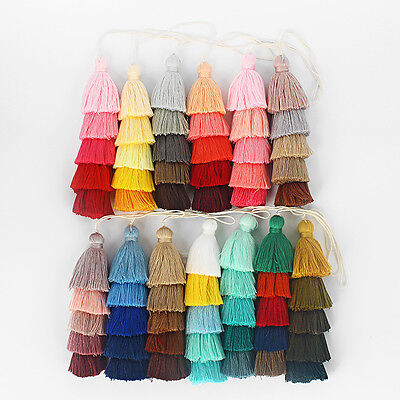 A Handmade Tiered Layered Cotton Tassel for DIY Jewelry Earring/Necklace Making