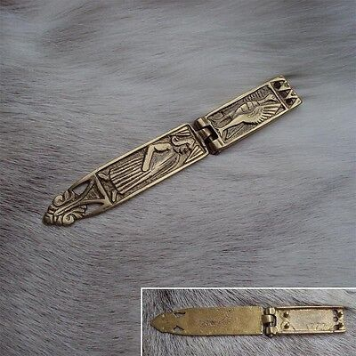 Medieval / Viking Long Brass Belt End - Re-Enactment Costume Accessory
