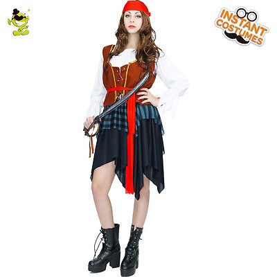 Adult's Caribbean Spanish Pirate Costume Halloween Fancy Dress Cosplay for Women](Pirate Halloween Costumes For Adults)