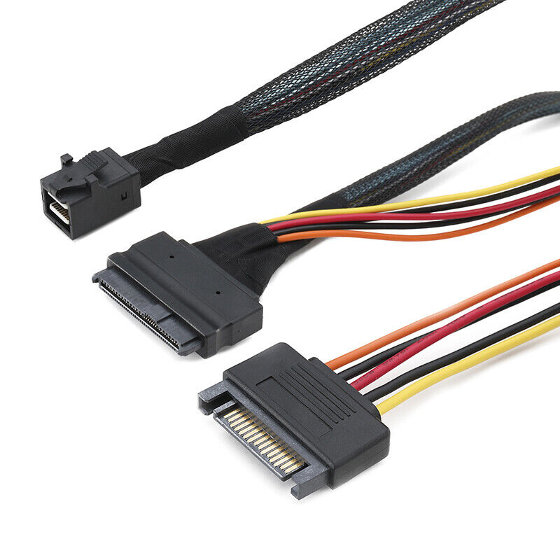 как выглядит SFF-8639 68P Straight PWR to SFF-8643 36P Mini SAS U.2 Cable for 2.5 NVMe SSD фото