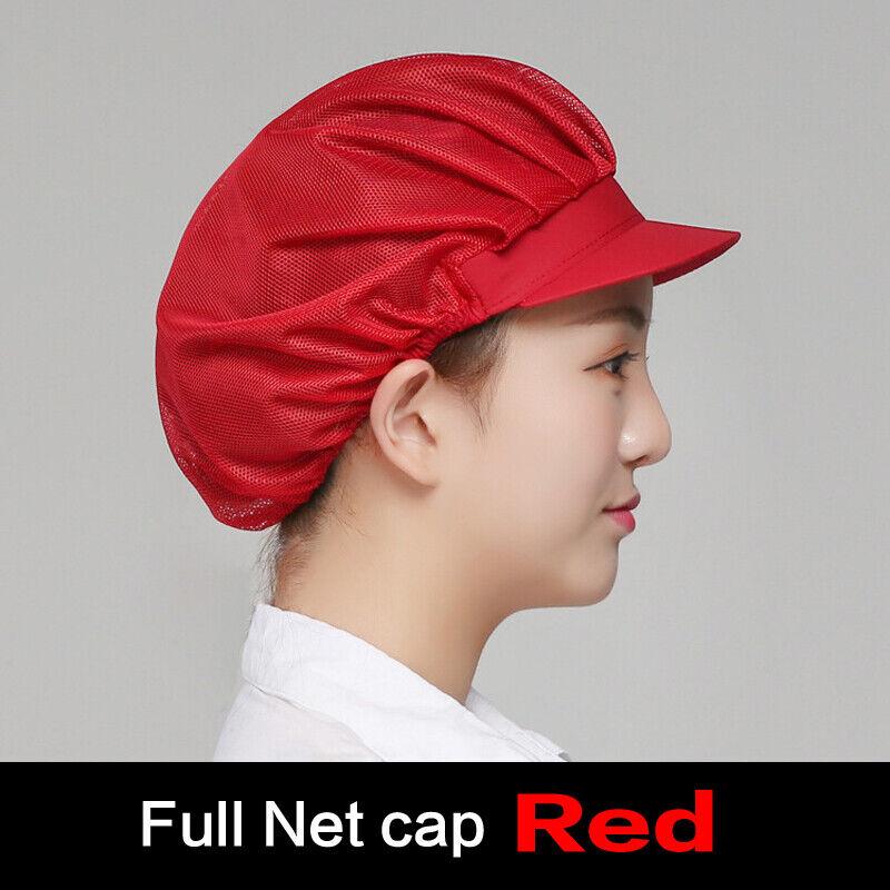 Men Women Cafe Bar Kitchen Restaurant Chef Elastic Mesh Waiter Work Wear Cap Hat