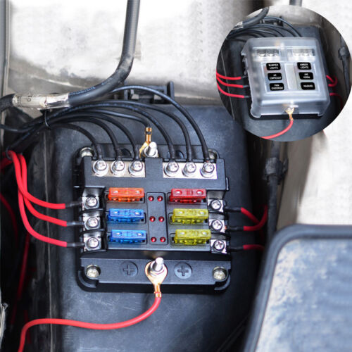 [DIAGRAM_4FR]  6 Way Car Auto Boat Bus UTV Blade Fuse Box Block With 12pc Fuse LED  Indicator 699947973838 | eBay | In Bus Fuse Box |  | eBay