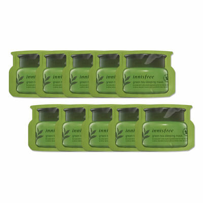 [INNISFREE] Green Tea Sleeping Mask 4ml * 10pcs [Sample]
