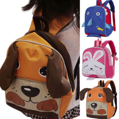 Child Baby Girl&Boy Book Bags Cartoon Shark Animal Backpack