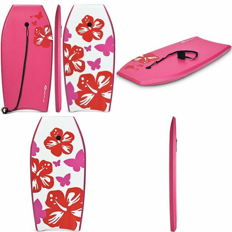 lightweight bodyboard surfing with leash eps core