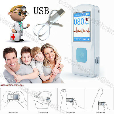 New Portable Ecg Monitor Machine Ekg Recorder Systemsoftware Bluetooth App. Fda