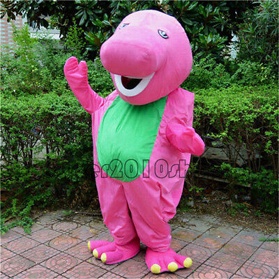 Halloween Barney Dinosaur Mascot Costume Suits Party Game Dress Adults Cosplay](Barney Halloween Costume Adults)