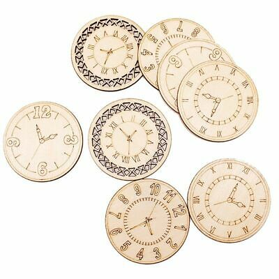 Round Clock Carved Wood Wafers Discs Slices Home Wall Art Craft DIY Decoration](Diy Wood Wall Art)