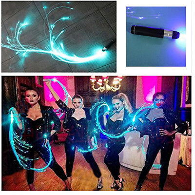 Night Space Flash Whip Halloween Christmas Dance Party Prop Fiber LED Light Whip ()