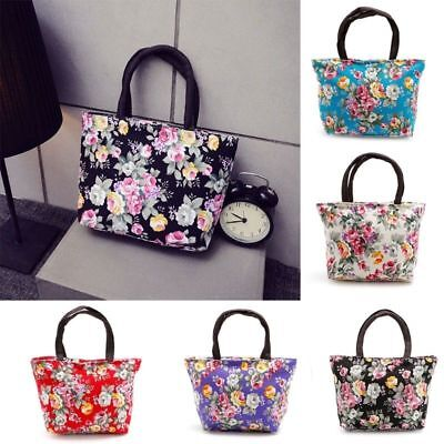 Womens Ladies Canvas Floral Handbag Tote Purse Messenger Hob