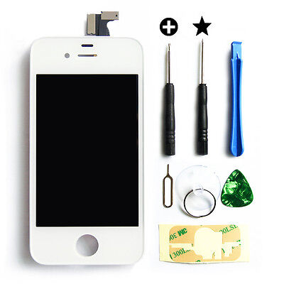 Replacement Glass LCD Touch Screen Digitizer Assembly OEM for iPhone 4S White on Rummage