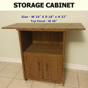 STORAGE CABINET / TV STAND - OPENING FOR ELECTRONICS