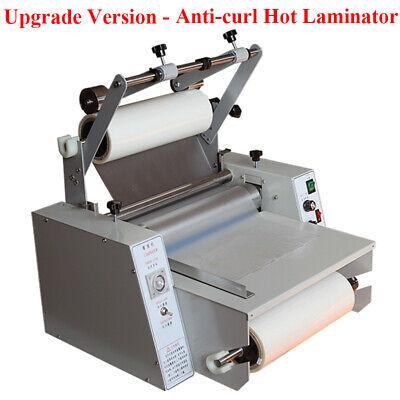 14 35cm Anti-curl Hot Roll Laminator Single Dual Sided Laminating Machine