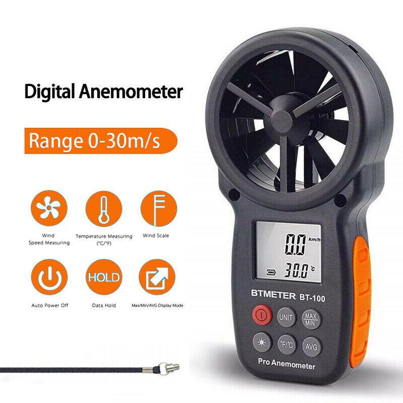 LCD Digital Anemometer Thermometer Handheld Wind Speed Meter Gauge Air Tester US
