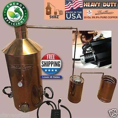 StillZ 50 Gal Copper Electric Still 240 V, 2-5500W Elements  Digital Controller