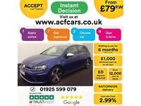 2016 BLUE VW GOLF R 2.0 TSI 300 4X4 PETROL 5DR HATCH CAR FINANCE FR £79 PW