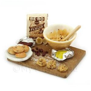 Dolls House Miniature Chocolate Chip Cookie Progress Board
