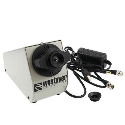400x200x Fiber Optic Bench Scope Fiber Video Microscope Inspection Scope