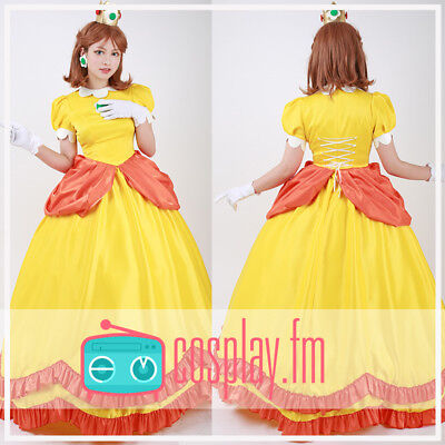 Super Mario BROS Princess Daisy Cosplay Costume](Mario Brothers Princess Daisy)