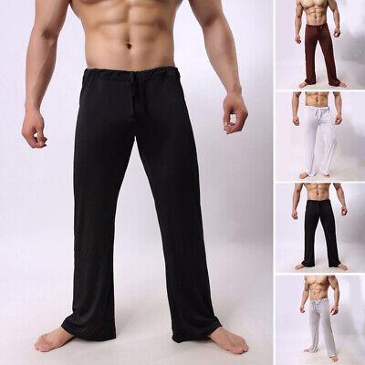 Männer Hosen Sommer Niedrige Taille Schlafanzug Hosen Solide Tunnelzug
