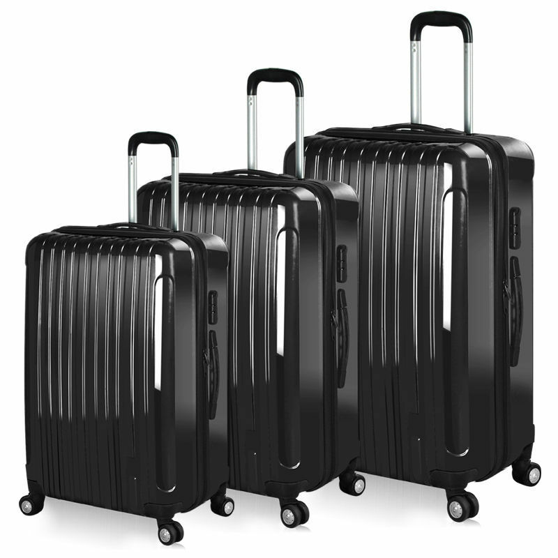 Hard Shell Suitcase 4 Wheel Luggage Trolley Cabin Carry On