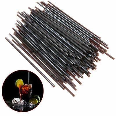 100Pcs Black Plastic Mini Cocktail Straws For Celebration Drink Party Supplies - Black Straws