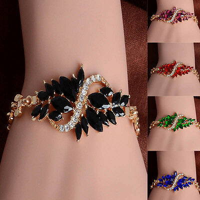 Charm Cubic Zircon Luxurious Gold Plated Link Chain Bracelet Women Jewelry - Girls Charm Bracelet