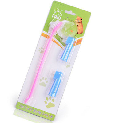 Dog Toothbrush Cleaning Teeth Puppy Finger Dental Care Grooming Cleaning Supply