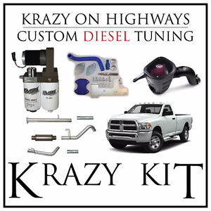2016 CUMMINS Complete Stage 1 Kit Autocal Exhaust Intake MORE+