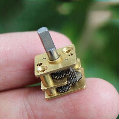 Mini Full Metal Gearbox Reduction Head 3mm D Shaft Diy N20 Dc Gear Reducer Motor