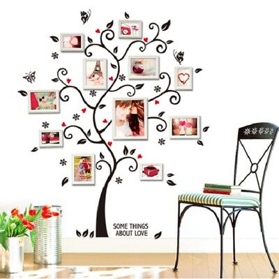 Removable Diy Family Tree Wall Decal Sticker Large Vinyl Photo Picture Frame Us