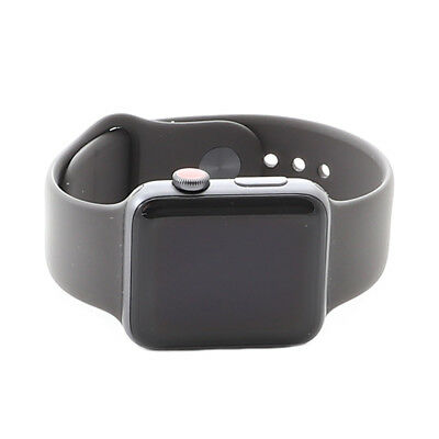 Apple Watch Series 3 42mm Space Gray Aluminum Case Gray Band MR2X2LL/A Cellular