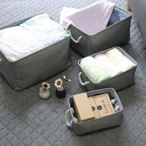 Foldable Storage Basket Laundry Clothes Organizer Box Kids B