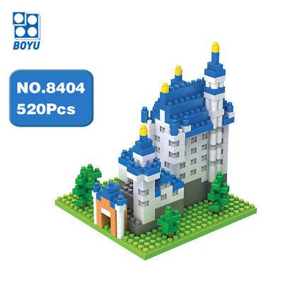 Boyu Architecture New Swan Stone Castle Diamond Mini Building Nano Blocks Toy