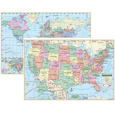 Us & World Wall Maps