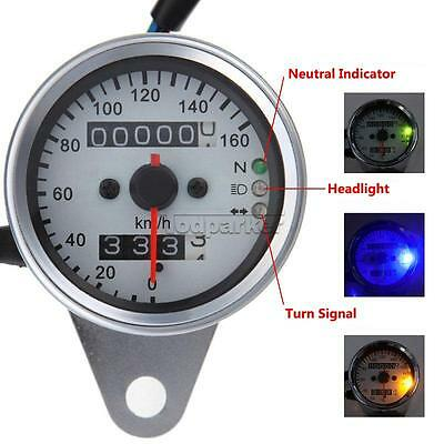 Motorcycle Odometer Speedometer Tachometer Speedo Meter LED For Honda Cafe Racer