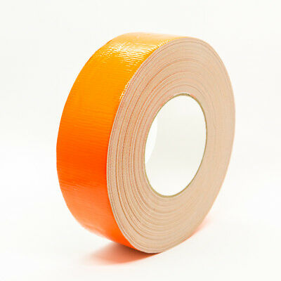 "1 ROLLS Fluorescent Orange 2"" x 60yds INDUSTRIAL Duct Tape    MADE IN USA"