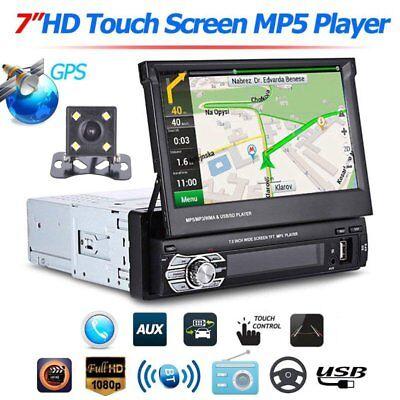 """AUTORADIO NAVIGATION GPS MIT RÜCKFAHRKAMERA 7"""" BILDSCHIRM USB SD MP3 AUX IN 1DIN"""