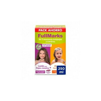 FULL MARKS KIT LOCION 100ML + CHAMPU 150ML TRATAMIENTO ANTIPIOJOS Y LIENDRES