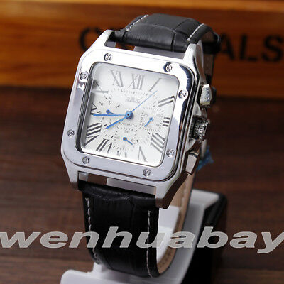 dbd8dfe2cd1 Casual Jaragar Automatic Mechanical Leather Band Self-Winding Waterproof  Watch