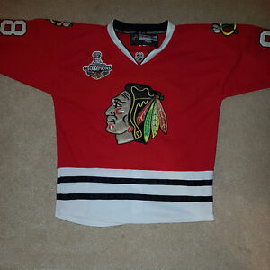 Patrick Kane XL Chicago Stanley Cup Jersey