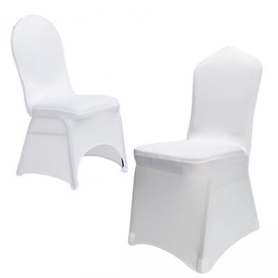 New 100pcs Universal Polyester Spandex Wedding Chair Covers White or Black