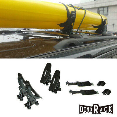 Universal 1 Set/4  Roof Rack Cross-Bars-Mounted Saddles Kayak/Boat/Canoe Carrier