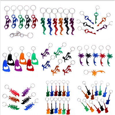 Mixed Aluminum Alloy Motorcycle Keychain Women Horse Guitar Pendant Key Ring