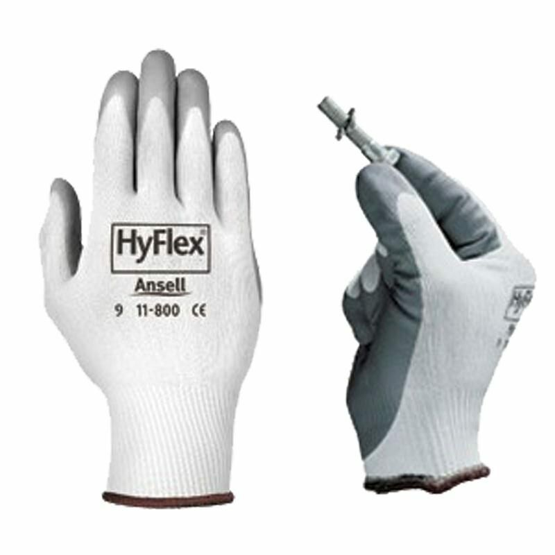 Ansell HyFlex 11-800 Foam Nitrile Palm Coated Knit General Purpose Work Gloves Business & Industrial