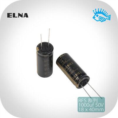 1000uf 50v Elna Silmic Ii Rfs Fever Audio Electrolytic Capacitor 50v1000uf 18x40