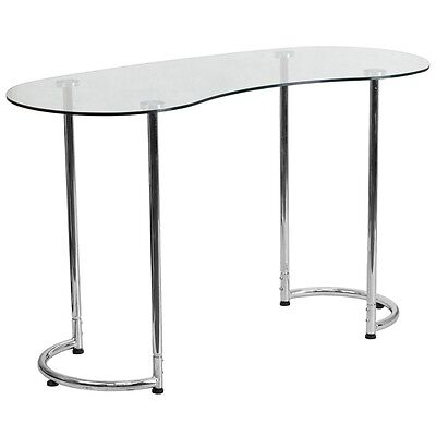 Contemporary Desk With Clear Tempered Glass Nan-ylcd1235-gg