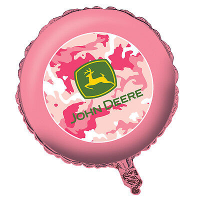 John Deere Pink Camo Foil Balloon, Country Girl Birthday Party Baby Shower - Camo Party Decor