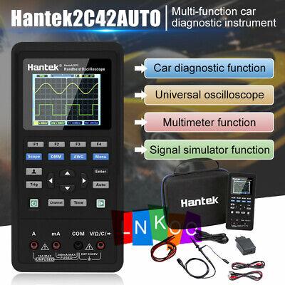 Hantek 2 Channel 2in1 Handheld Oscilloscope 2c42 Dmm Multimeter Tester Us Stock